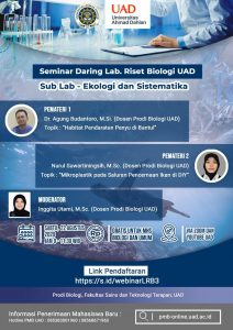 Link pendaftaran webinar LRB Bio UAD #3