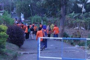 Perjalanan menuju tempat pelatihan hidroponik di Kusuma Agrowisata Malang