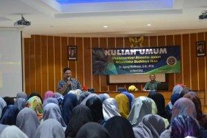 Dr. Agung Budiharjo, S.Si., M.Si saat memberikan kuliah umum