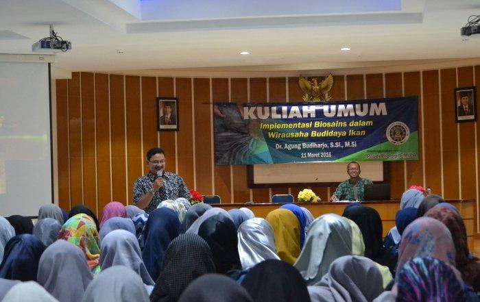 Kuliah Umum Sainstrepreneurnship Budidaya Sidat Program Studi Biologi